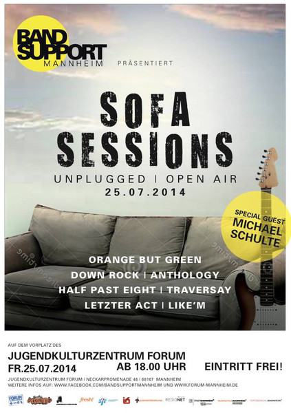 "Band Support ""SOFA SESSION"" unplugged und Open Air"